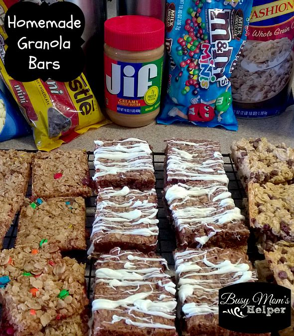 Homemade Granola Bars by Nikki Christiansen for Busy Mom's Helper