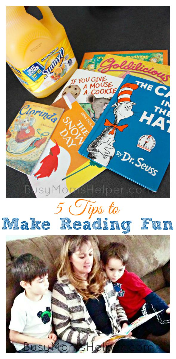 5 Tips to Make Reading Fun / by Busy Mom's Helper / Earn Free Books for Your Classroom #KeepItSunny #Pmedia #ad @SunnyD @SunnyDelight