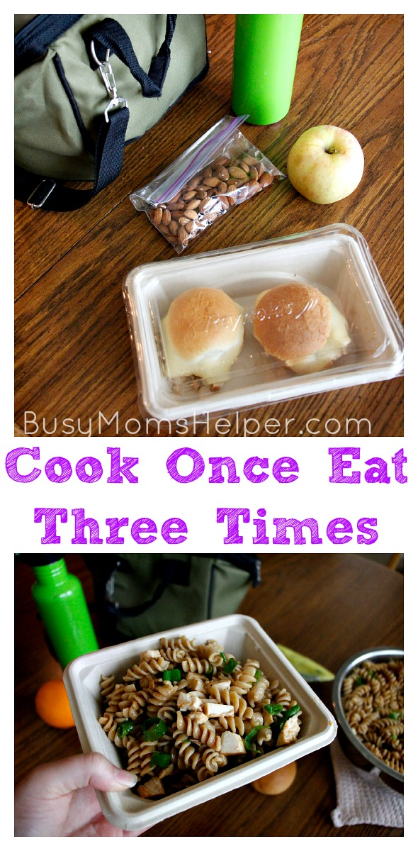 Cook Once Eat Three Times / 2 Lunch Recipes from Leftovers / by Busy Mom's Helper #HeatandEat @Target #Ad