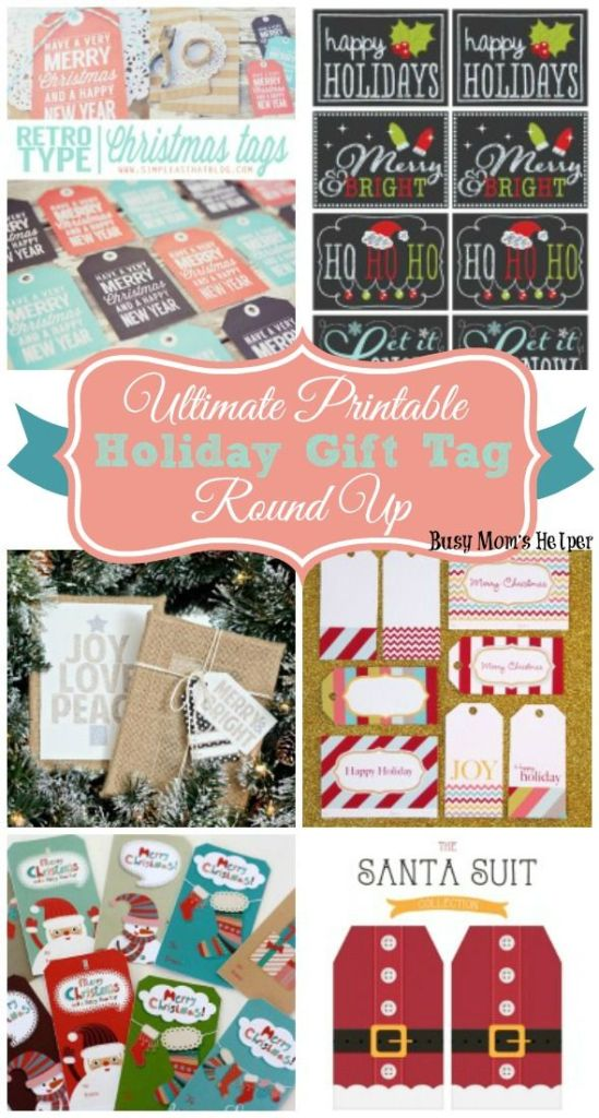 Ultimate Printable Holiday Gift Tag Round Up / by BusyMomsHelper.com