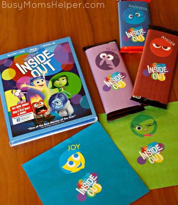 Inside Out Candy Bar Wrappers / by Busy Mom's Helper #InsideOutMovieNight #ad