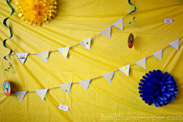 photograph about Minion Printable Cutouts known as Minion Celebration with Absolutely free Printables - Active Mothers Helper