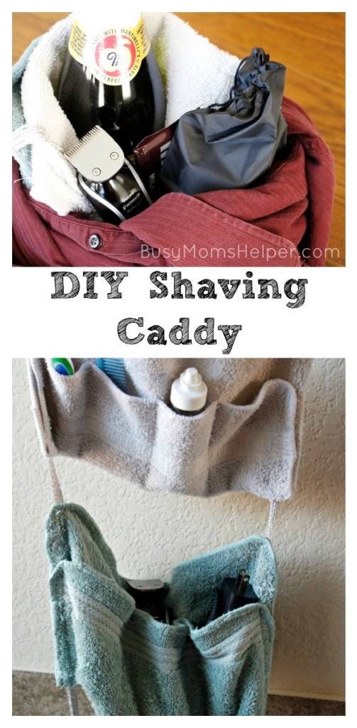 DIY Shaving Caddy / Date Night Gift Basket for Hubby / by BusyMomsHelper.com #GiftofPhilips #ad