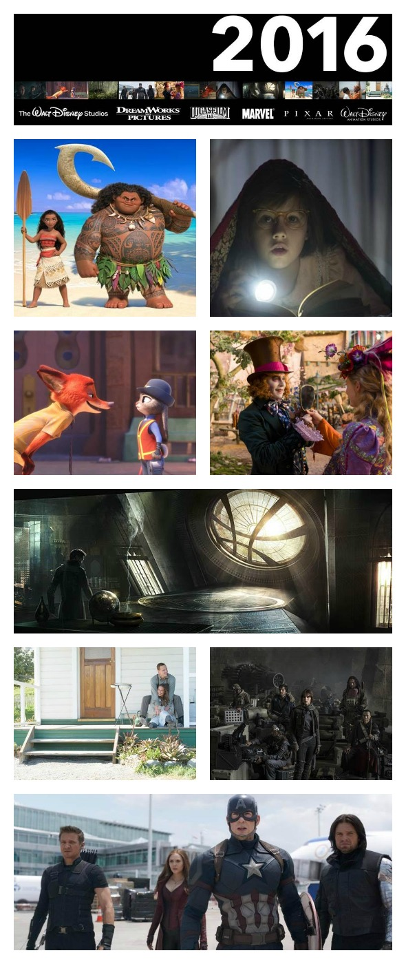 What's coming from Walt Disney Studios Motion Pictures in 2016? Here's the line-up so you can get excited from 2016 Disney movies coming out this year! www.BusyMomsHelper.com