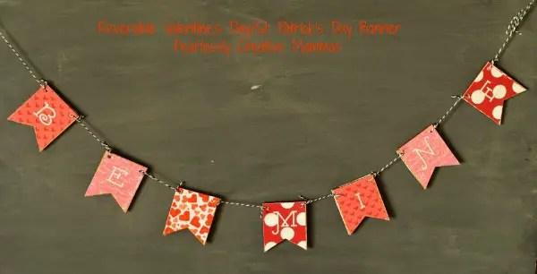 Reversible Valentines Day/St Patricks Day Banner