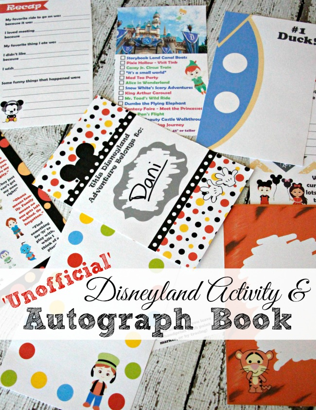 2016 Unofficial Disneyland Activity & Autograph book by BusyMomsHelper / shared on Carrie Elle Blog