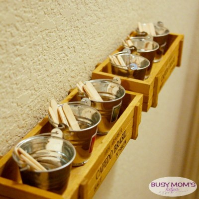 Simple and attractive DIY Chore Chart - or should I say Chore Buckets! Let your chore chart be attractive decor! by BusyMomsHelper.com