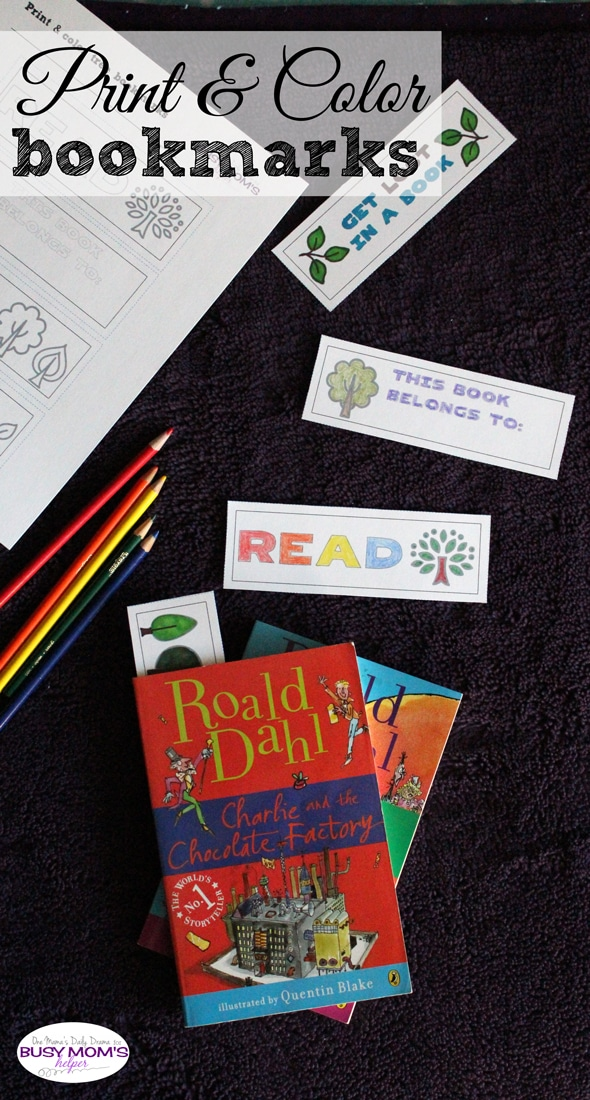 Print and color bookmarks with trees | by One Mama's Daily Drama for Busy Mom's Helper
