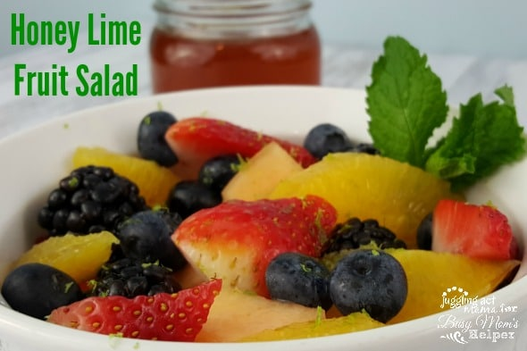 Honey Lime Fruit Salad is an easy and elegant brunch dish