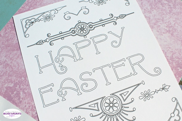 Printable Easter art coloring page | One Mama's Daily Drama for Busy Mom's Helper