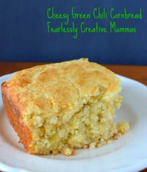 Cheesy Green Chili Cornbread
