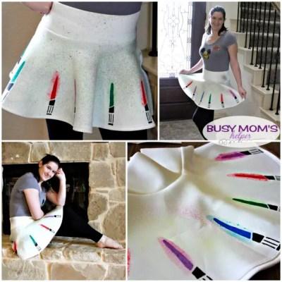DIY Lightsaber Skirt / by BusyMomsHelper.com / Great Star Wars Skirt you can make yourself!