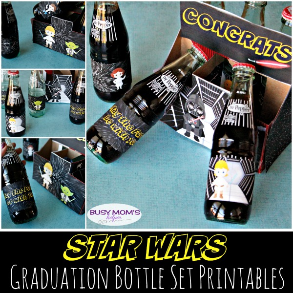 Star Wars Graduation Bottle Set Printables / by BusyMomsHelper.com / the perfect graduation gift for Star Wars fans!
