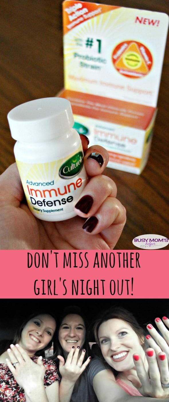Don't Miss Another Girl's Night Out / by BusyMom's Helper / Stay healthy & prevent sickness #CulturelleNightOut #IC #ad