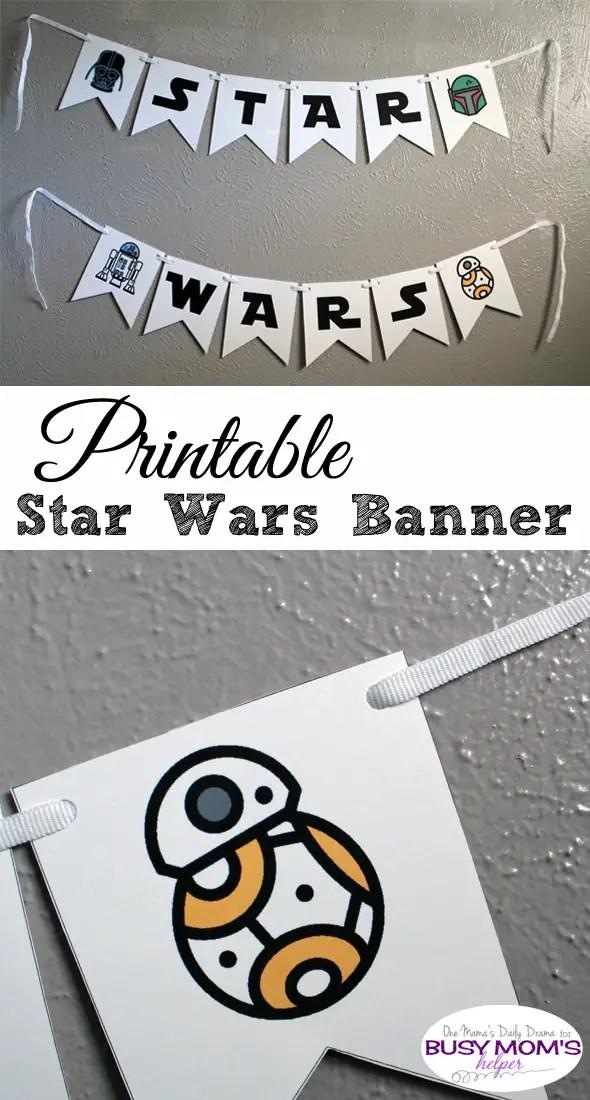 Printable Star Wars Banner Full Alphabet Icons Busy Moms Helper