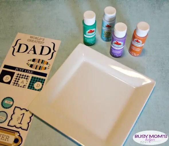 Fingerprint Dad Gift / by BusyMomsHelper.com for Craft Lightning / Easy crafts / DIY Gift Idea for Father's Day