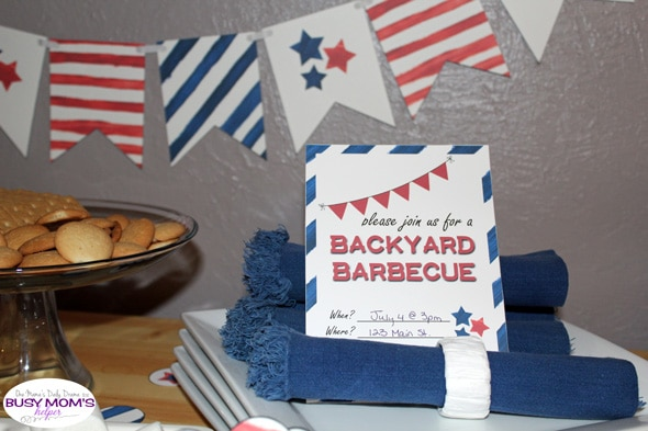 Printable backyard barbecue invitation | One Mama's Daily Drama for Busy Mom's Helper