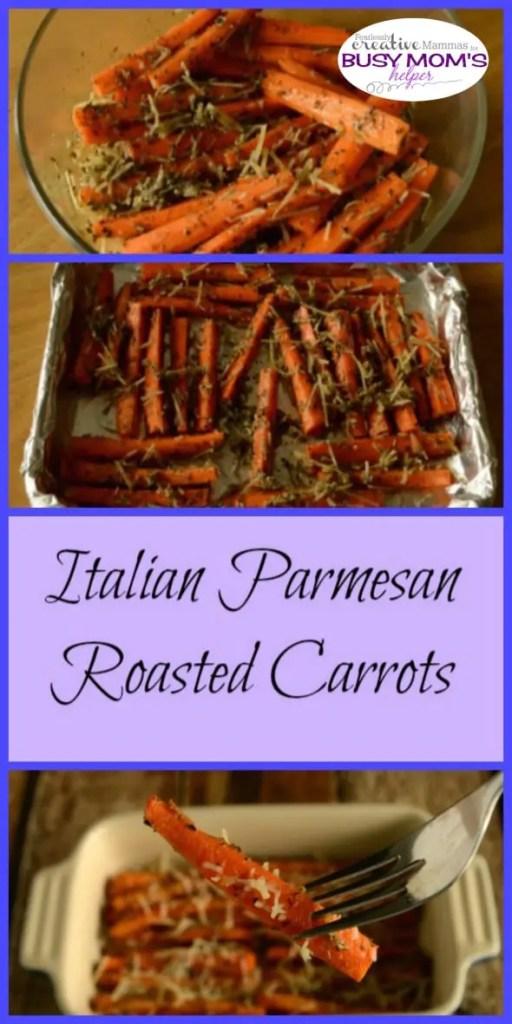 Italian Parmesan Roasted Carrots