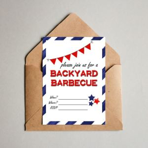 Printable backyard barbecue invitation | One Mama's Daily Drama for Busy Mom's Helper