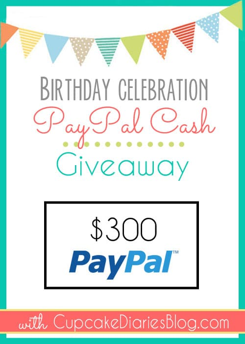 $300 PayPal Cash Giveaway
