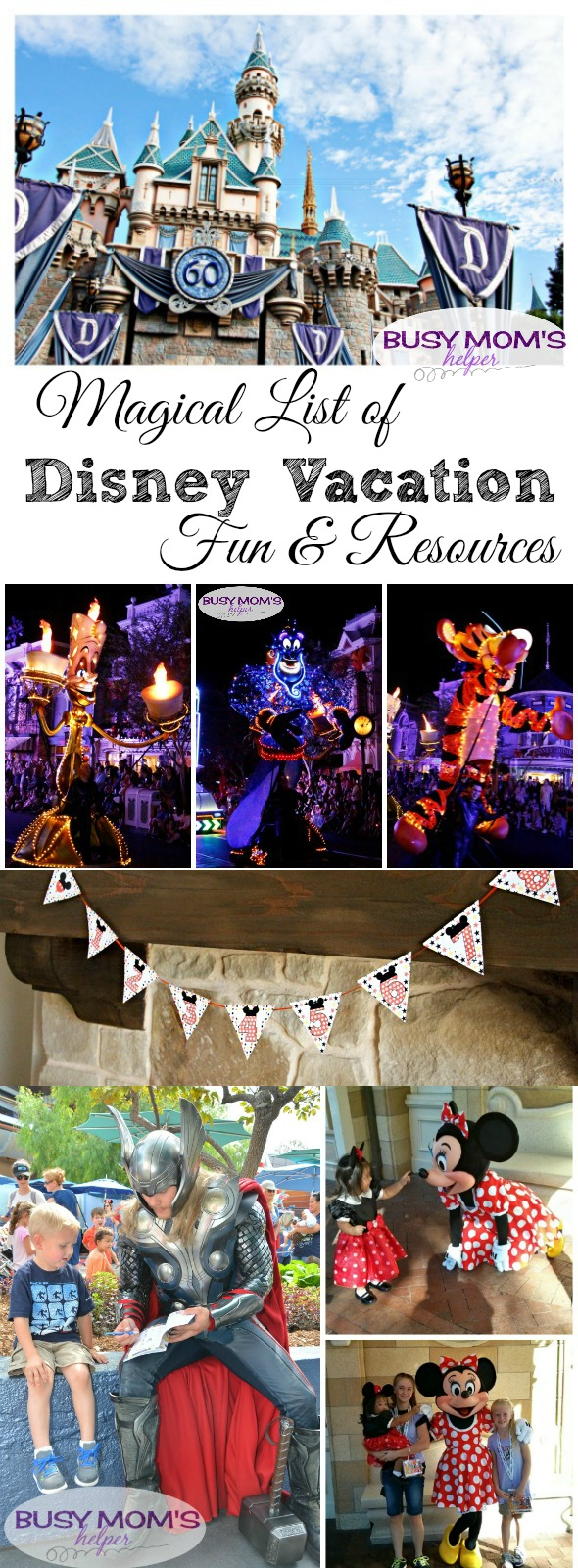 Magical List of Disney Vacation Fun & Resources / by BusyMomsHelper.com / Lots of Disney tips and recaps