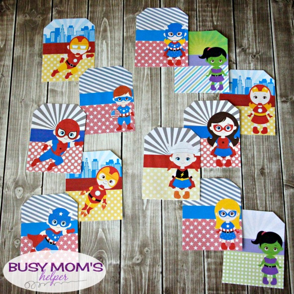 Marvel Superhero Luggage Tags/ printable superhero tags / by BusyMomsHelper.com #sponsored #PackMoreFun