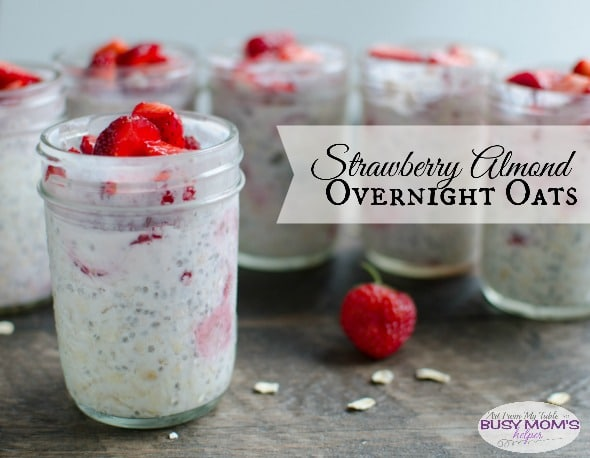 strawberry almond overnight oats