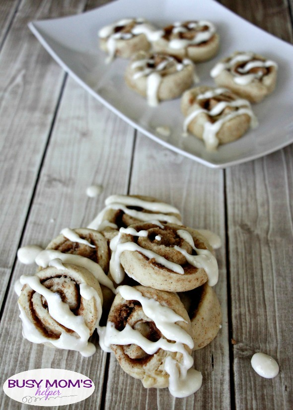 The BEST Ever Cinnamon Roll Sugar Cookies - these are a great dessert or treat recipe for parties, family gatherings or just to enjoy at home!