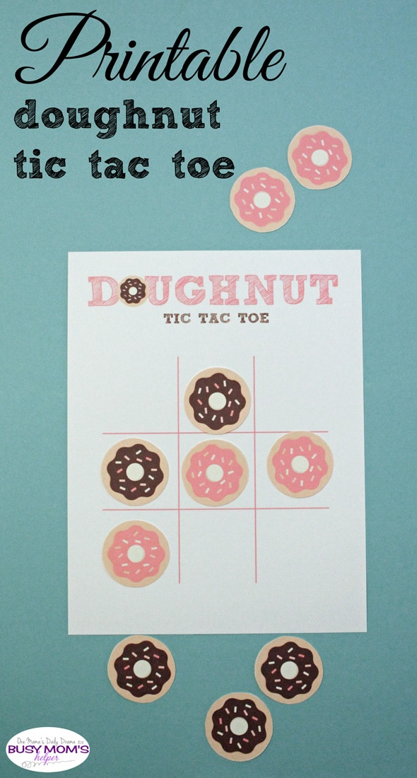 photograph relating to Grinch Pills Printable called Printable Doughnut Tic Tac Toe Match - Hectic Mothers Helper