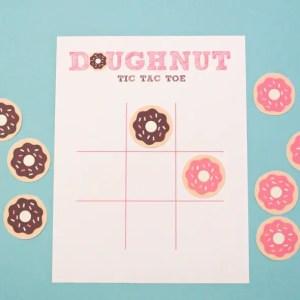 Printable Doughnut Tic Tac Toe Game
