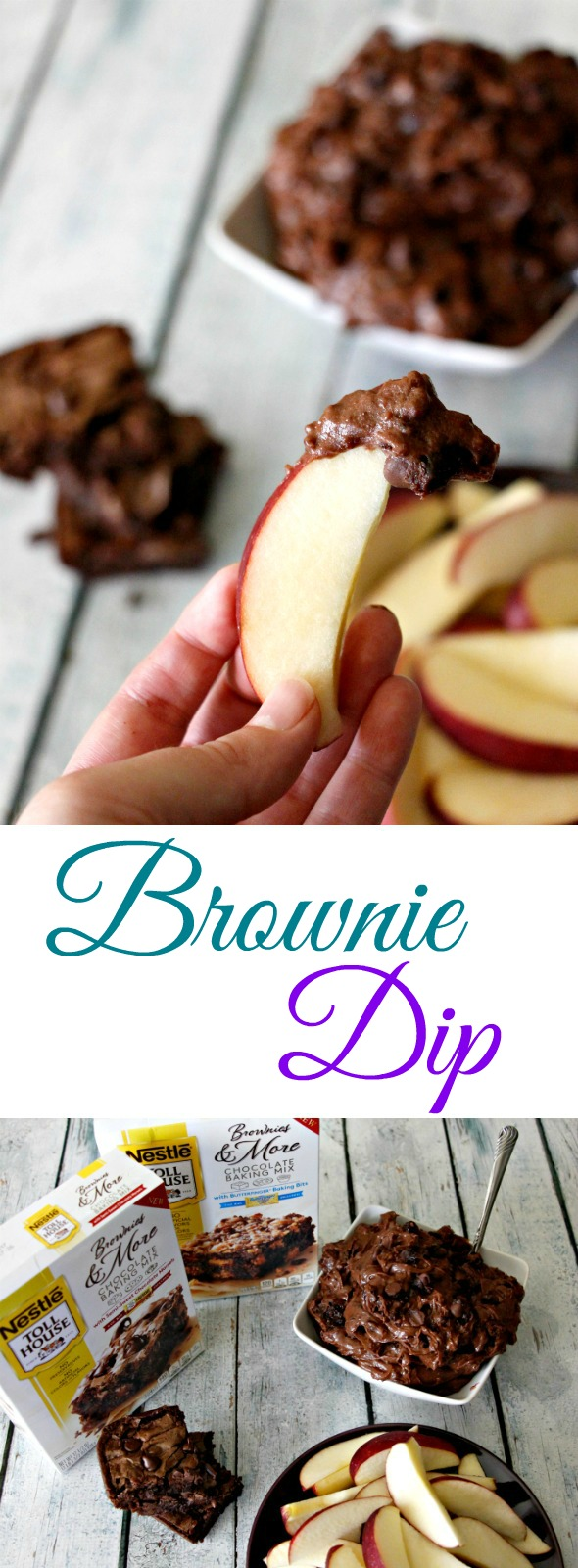 Easy Brownie Dip! A great snack idea for back to school #mixinmoments #ad