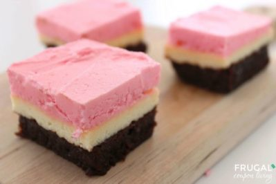 Neapolitan Cheesecake Brownie Bars Frugal Coupon LIving Smaller