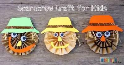 Cute-Scarecrow-Pinwheel-Paper-Craft-for-Kids