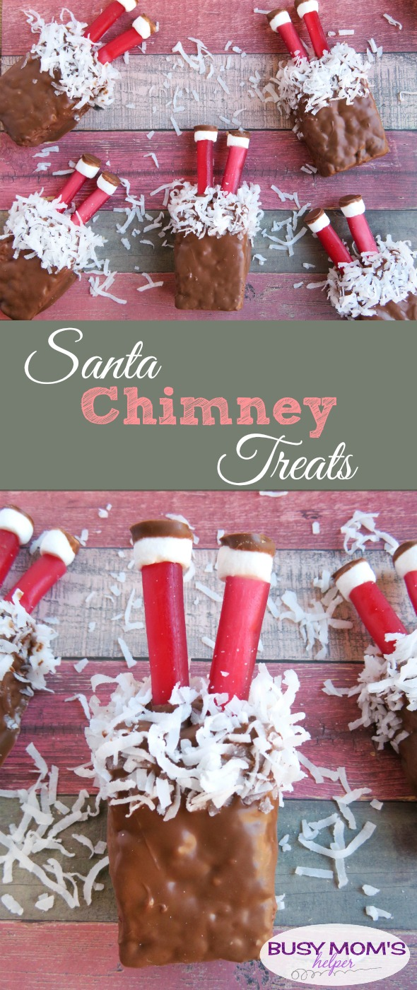 Cute Santa Chimney Treats / Uh-oh, Santa is stuck in the chimney in these fun and easy Christmas treats!