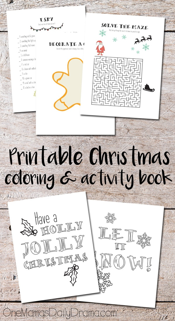 Printable Christmas coloring & activity book | OneMamasDailyDrama.com