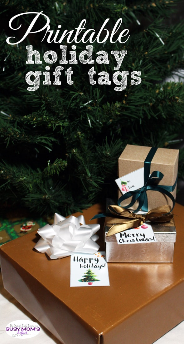 Printable holiday gift tags | One Mama's Daily Drama for Busy Mom's Helper