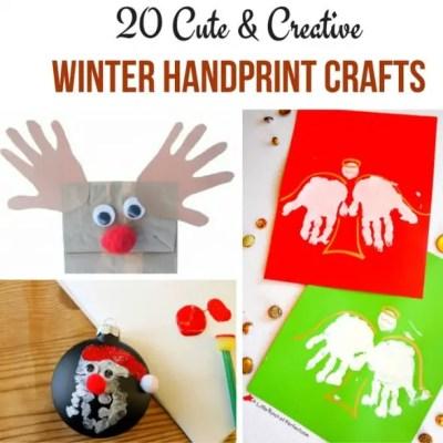 20 Winter Handprint Crafts - a great list of winter activities for kids!