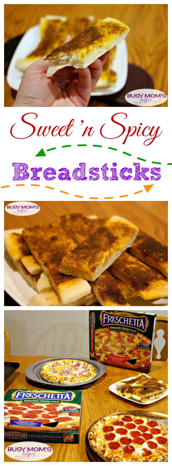 Sweet 'N Spicy Breadsticks #ad #FreschettaFresh @Walmart @Freschetta
