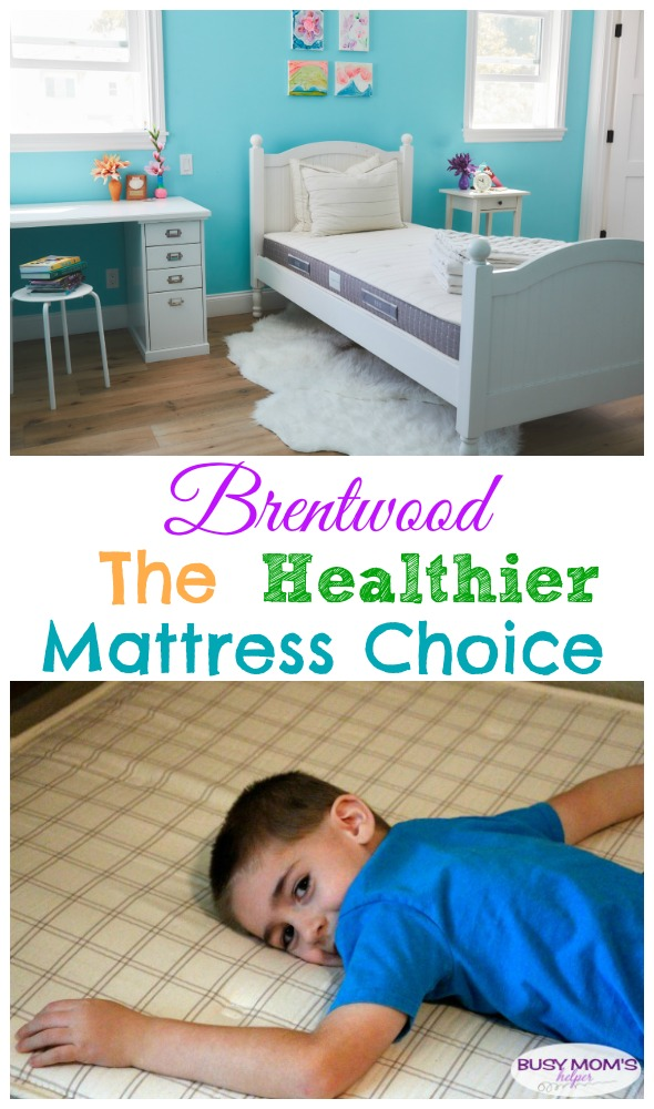 Brentwood: The Healthier Mattress Choice for your kids / hypoallergenic, latex-free & no dangerous flame retardant chemicals! #sponsored