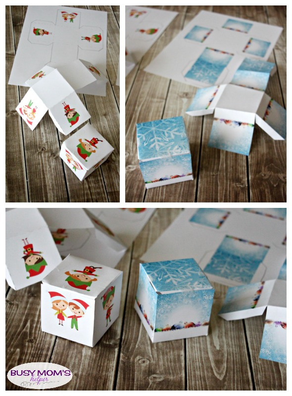 You've Been ELFED Printables! Lovely & fun ELFED kits with printable boxes and cards! #MerryAndBright #ad