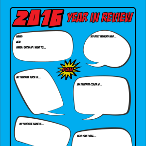 Free Printable Superhero Kids Year in Review