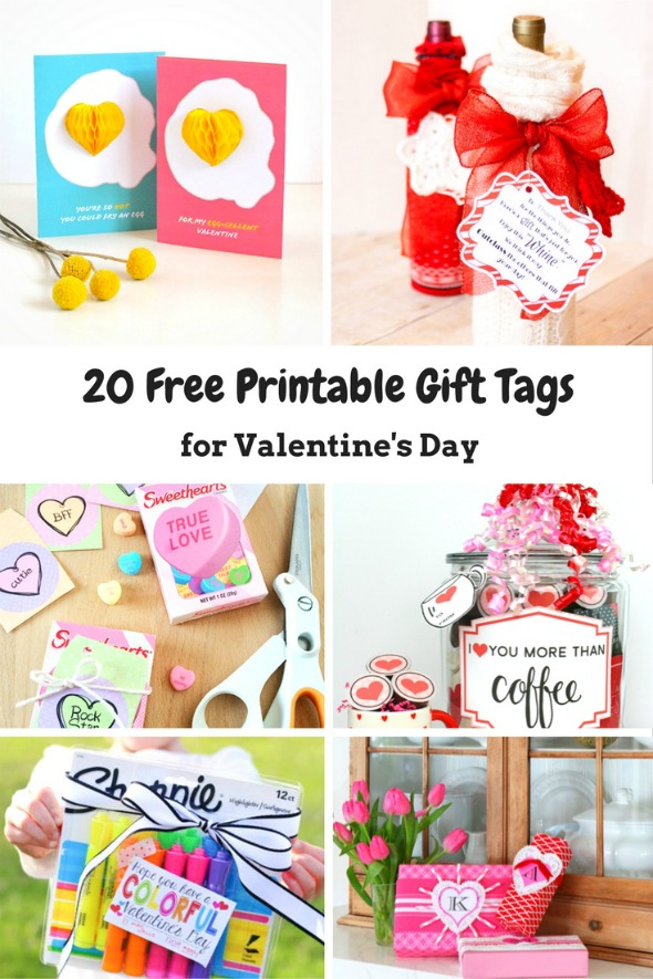 20 Free Printable Gift Tags for Valentines Day
