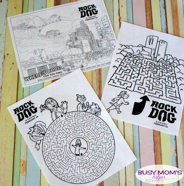 Rock Dog Coloring & Activity Pages - Busy Moms Helper