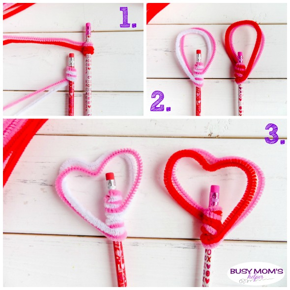 Valentine Heart Pencil Toppers