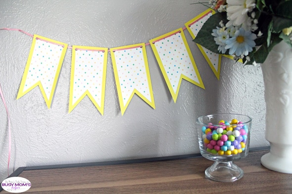 Printable spring banner Easter decor