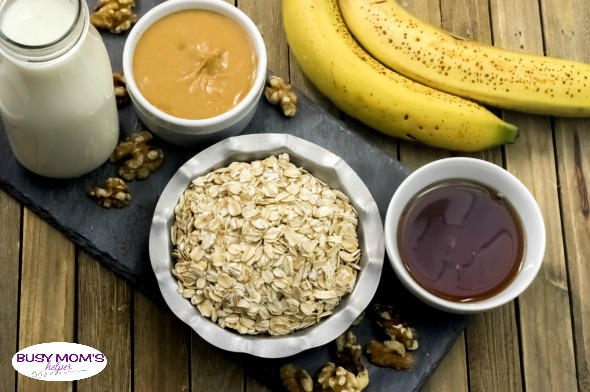 Peanut Butter and Banana Overnight Oats - Busy Moms Helper