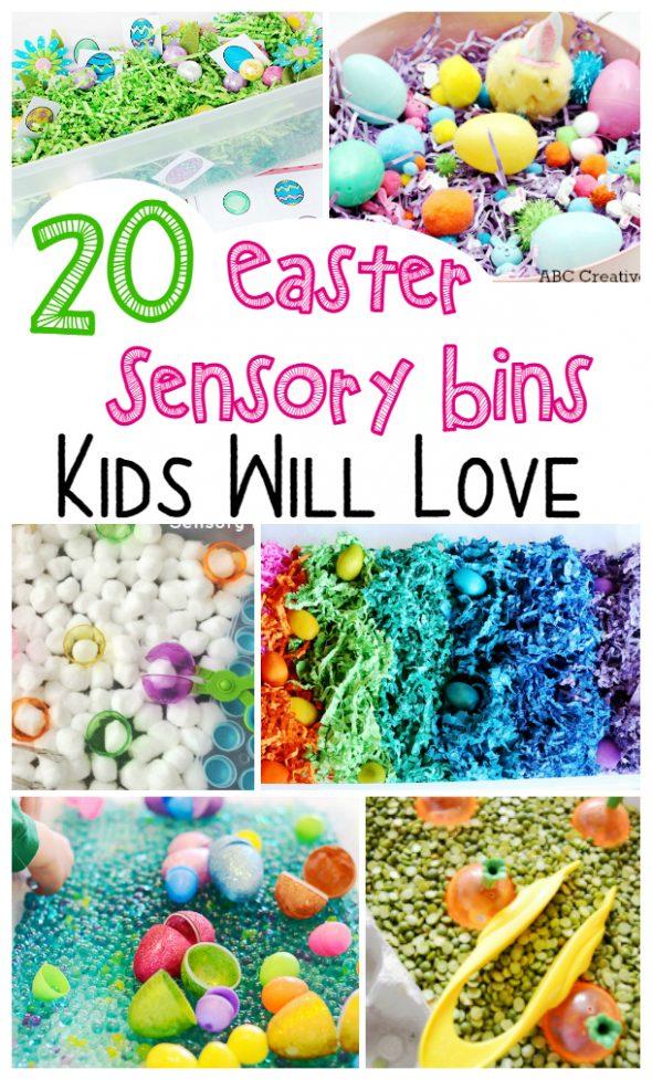 20 Easter Sensory Bins Kids Will Love
