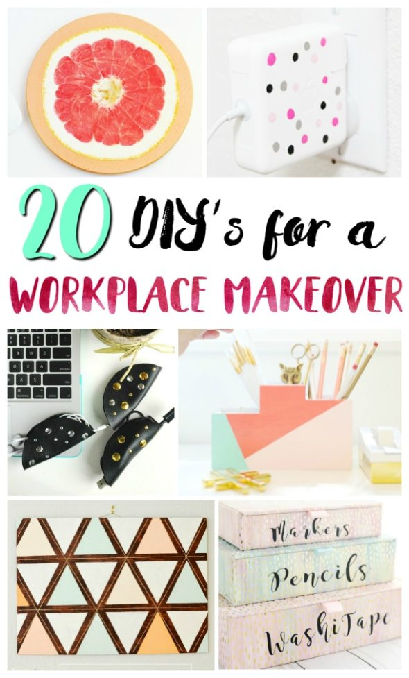 20 DIY's for a Workplace Makeover / Do a home office makeover with these fun office DIY projects!