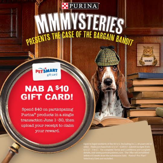 Purina makes it easier to enjoy quality pet products AND nab a $10 gift card! #ad #PurinaMysteries @purina @petsmartcorp