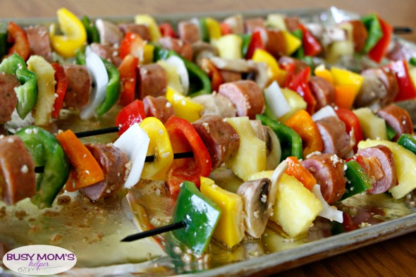Marinated Sausage Kabobs #ad #WhatsCookingWednesday @klementssausage
